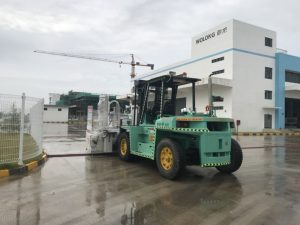 Construction of forklift truck rental at Wolong Hai Phong Vietnam 4