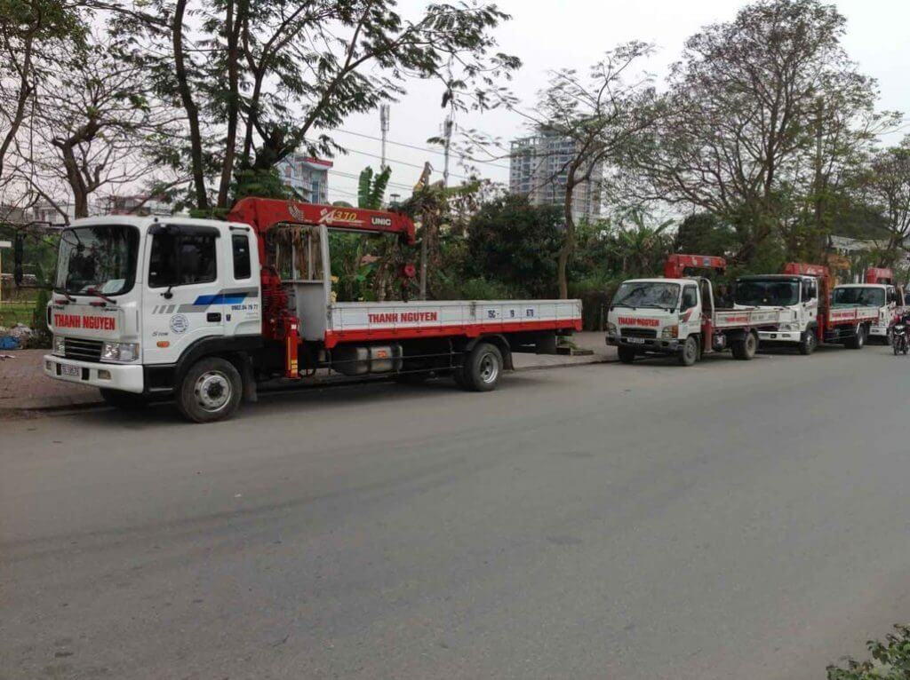 Thanh Nguyen Joint Stock Company provides professional leasing services for cranes in Hai Phong, Viet Nam